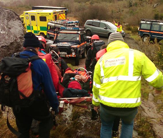 Injured walker rescued from Strickeen Mountain