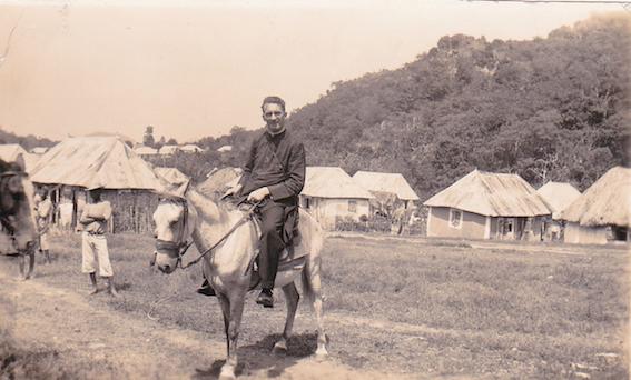 Monsignor Hugh O'Flaherty pictured in Haiti in the 1930s.
