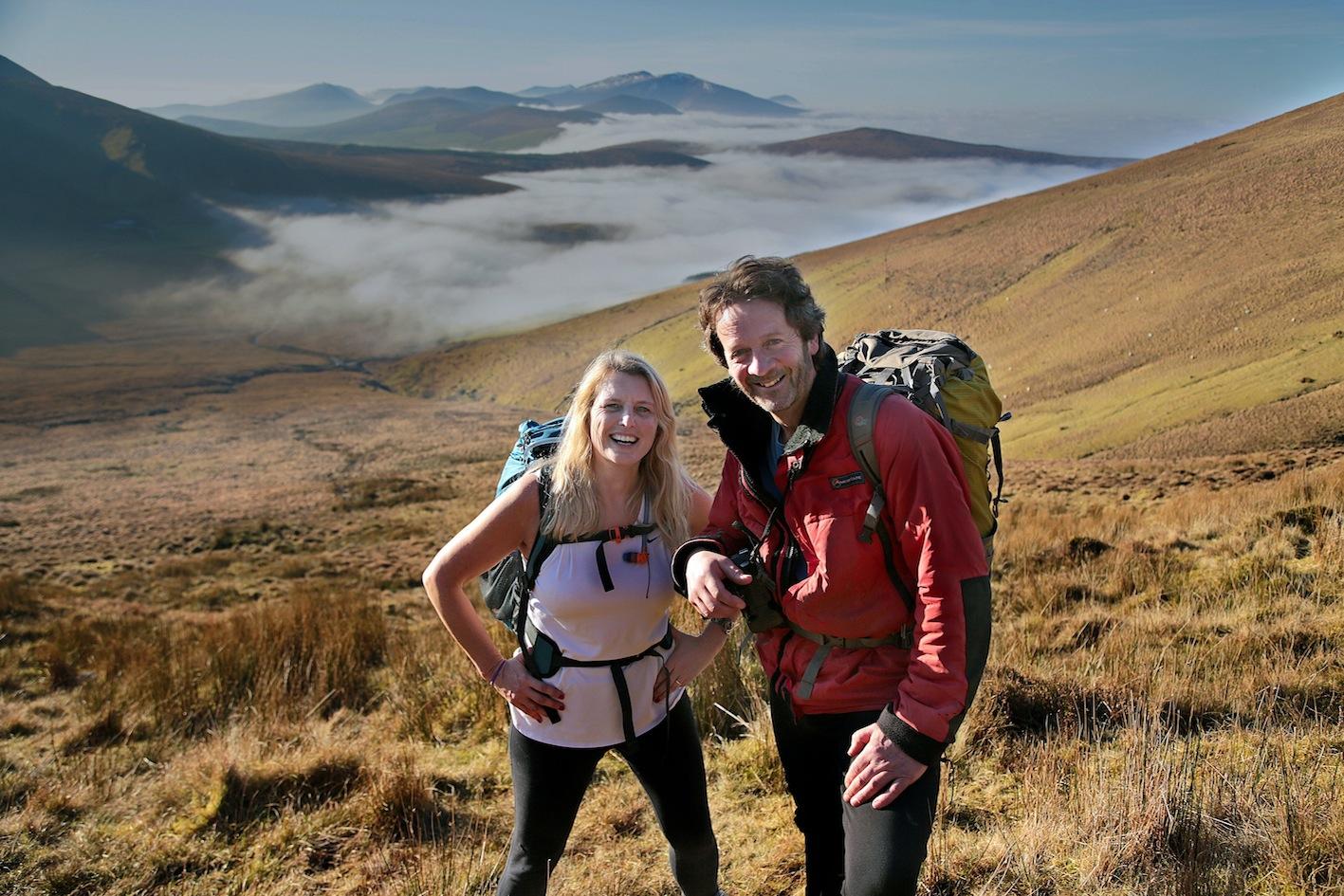 John O'Sullivan, Lodge and Reeks Guiding, with Marie Kehoe-O'Sullivan enjoying a trek on Caherconree Sliabh Mish, Camp. PICTURE: VALERIE O'SULLIVAN