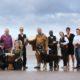 Launching Puck Fair are Deputy Michael Healy-Rae TD, Ruth Albrecht, Tweak, Jess the dog; back, Bl‡thaid Carney, Killorglin, Declan Mangan, chairman, Puck Festival, Tim O'Shea and members of Afro Trad Ireland, Samuel Kiwanuka and Rosie Healy, Fionnuala O'Dwyer, Diageo, Queen of Puck Fair Kerry Lynch, Caragh Lake, Sean Coffey, Puck Fair Committee. PICTURE: VALERIE OÕSULLIVAN