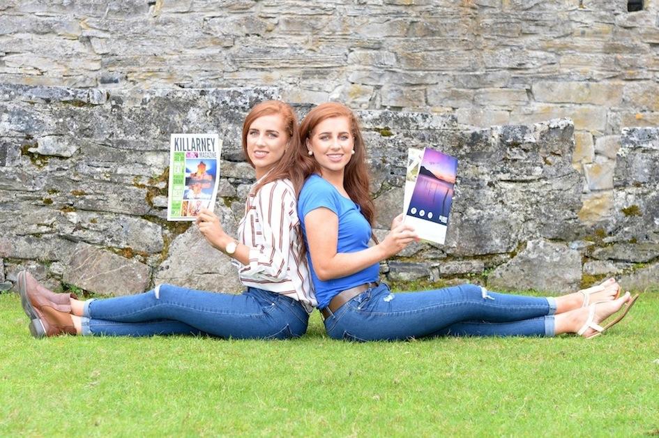 Twins Laura and Sarah Murphy, Firies, enjoy the new Killarney Magazine. PICTURE: SALLY MACMONAGLE