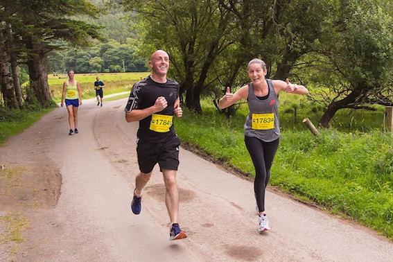 Louise Devaney and Eddie O'Sullivan competing in the Run Killarney.