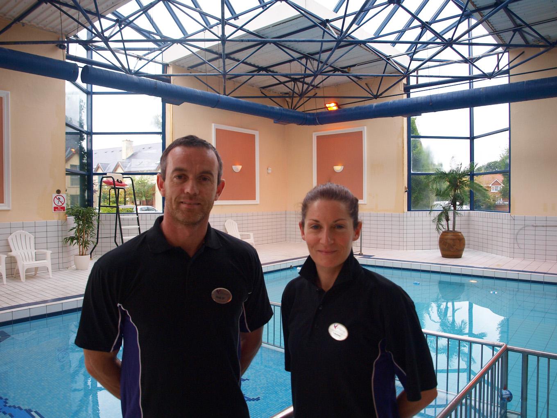 Louise Devaney, leisure centre manager, Club Vitae, Hotel Killarney, right, and Philip O'Brien, leisure centre supervisor.
