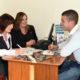 Joan Mangan and Emer Guigan, Killarney Credit Union, with Paul Herlihy of Paul Herlihy Contracting at Killarney Credit Union.