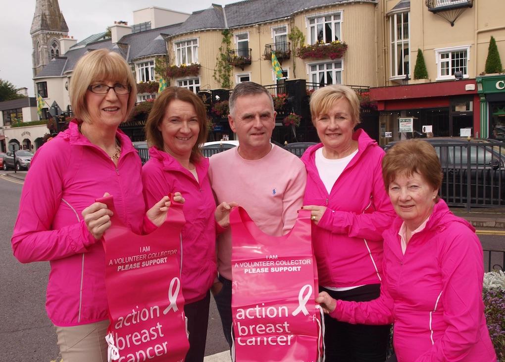 Kathrina Breen, Eleanor O'Doherty, Eugene O'Sullivan, Kathleen Cronin and Kathleen O'Shea launching Paint it Pink in Killarney.