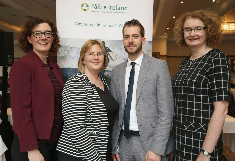 From left, Gretel O'Sullivan, Destination Killarney, Valerie Wilger, Dalata Hotel Group, Marco Nembrini, UK Tour Operator, Oonagh Kelly, Fáilte Ireland. PICTURE: VALERIE O'SULLIVAN