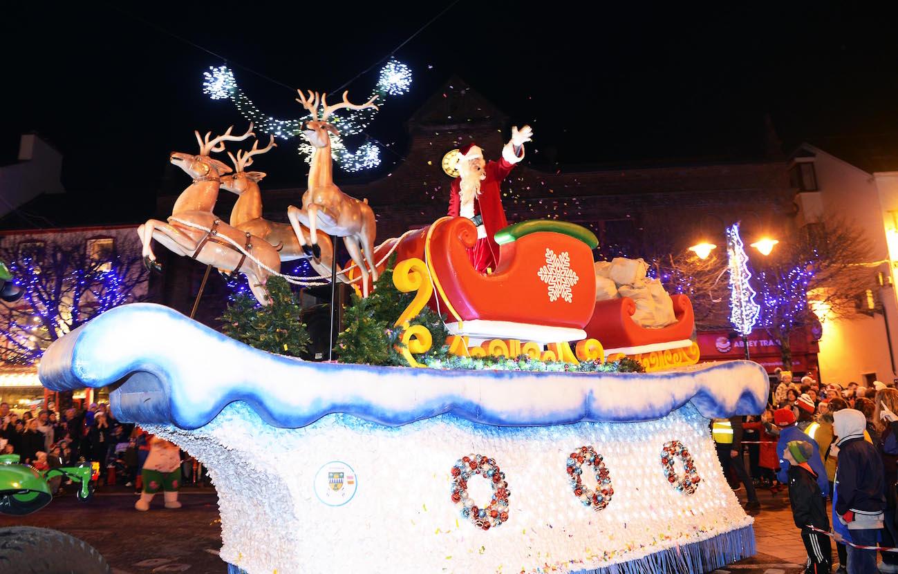 Santa taking part in the Christmas in Killarney Magic parade. PICTURE: DON MACONAGLE