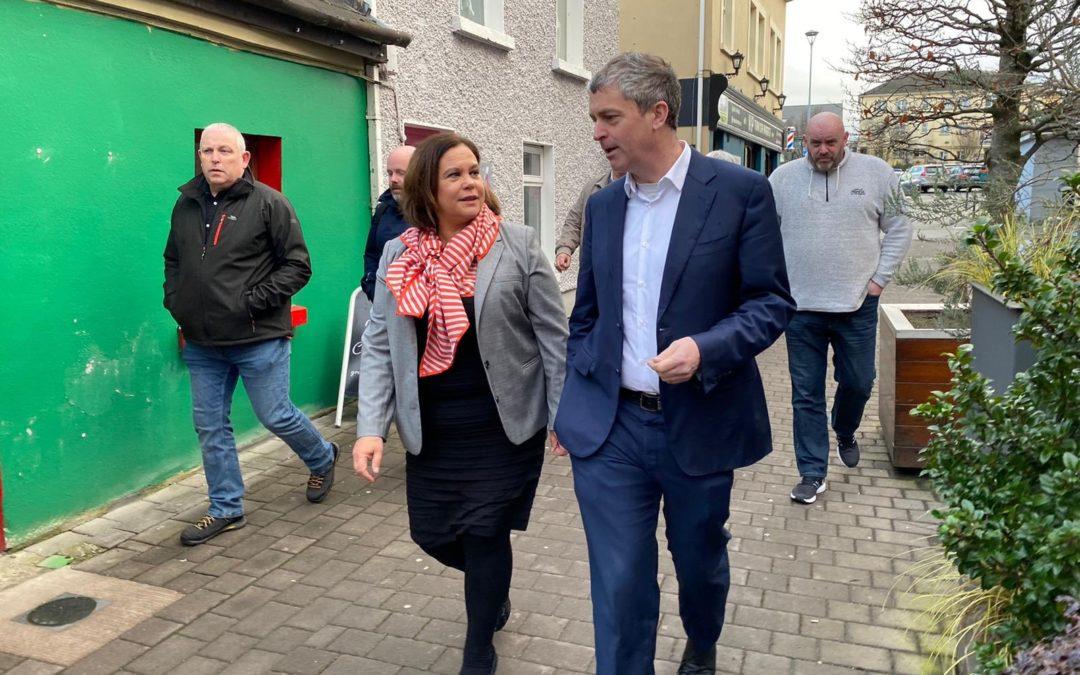Sinn Féin's Mary Lou McDonald visits Killarney