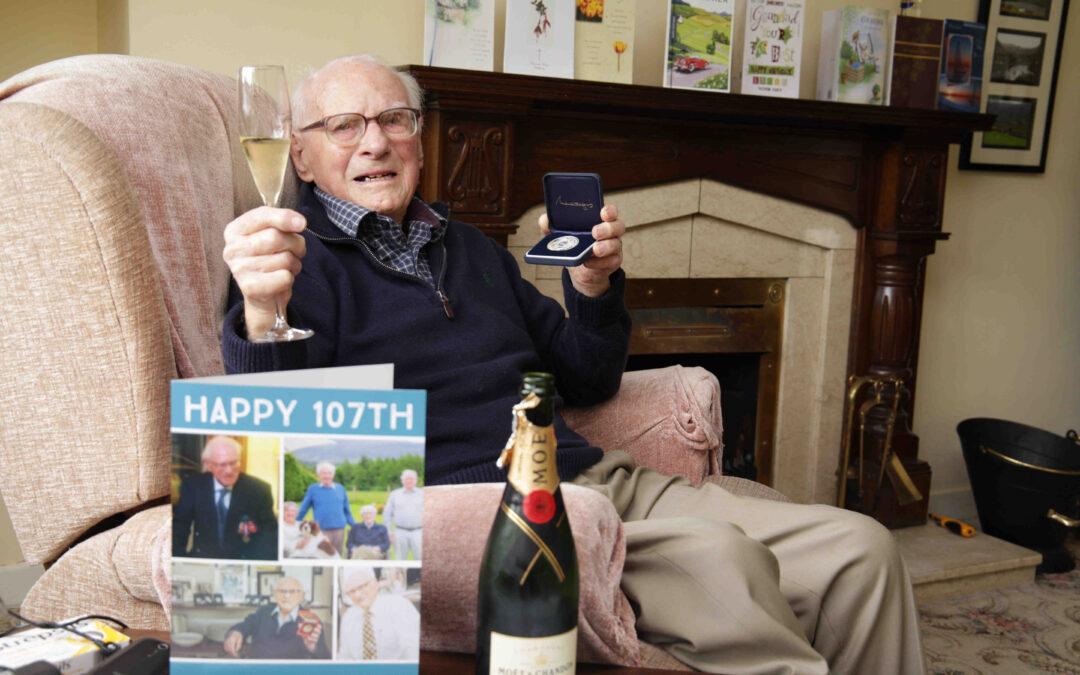 Ireland's oldest man celebrates 107th birthday!