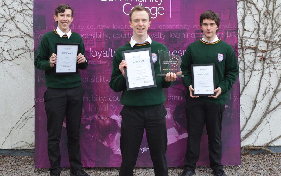 Killorglin students runners-up at Generation €uro Awards