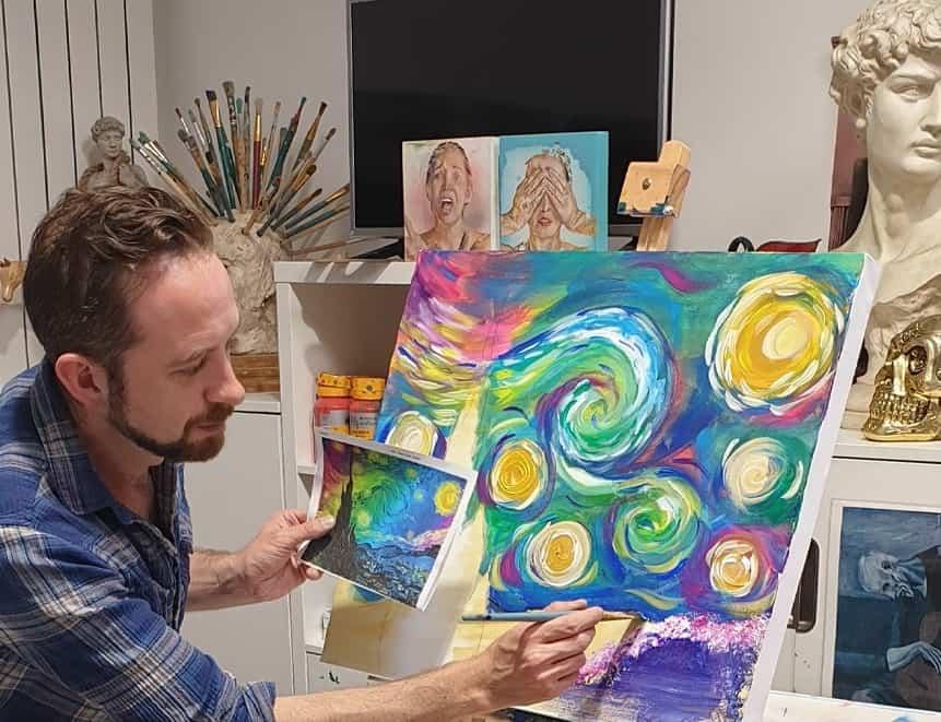 Free online art class this Valentine's Day