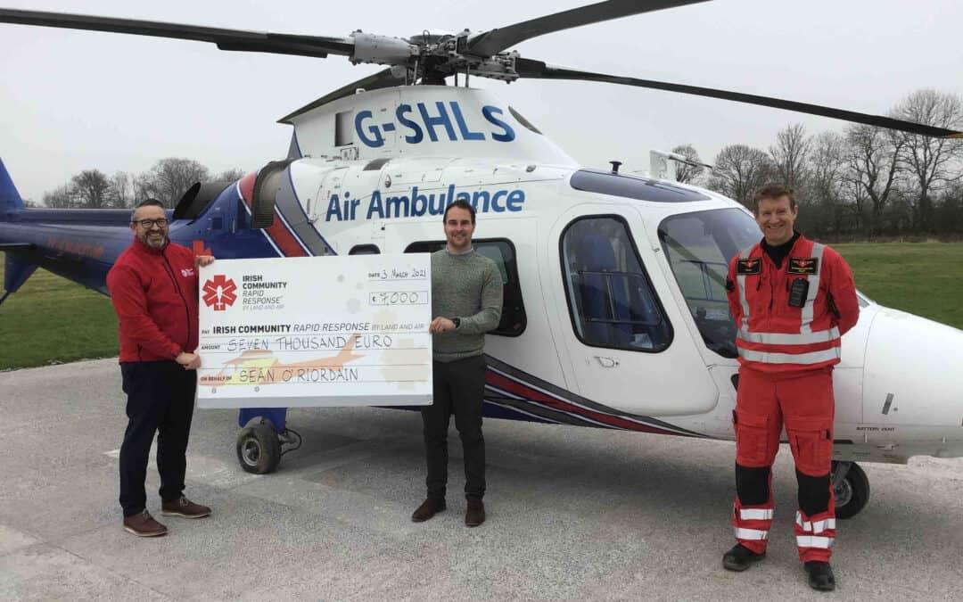 Killarney teacher raises €7k for air ambulance