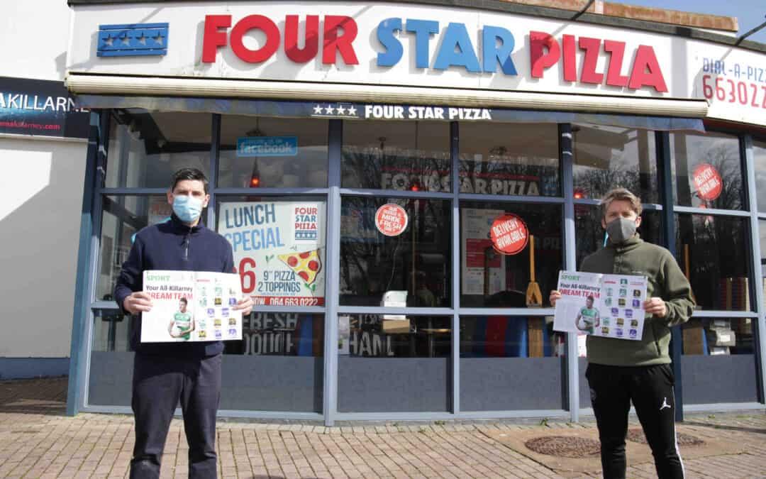 Four Star Pizza is backing Killarney Advertiser Sport in new sponsorship deal
